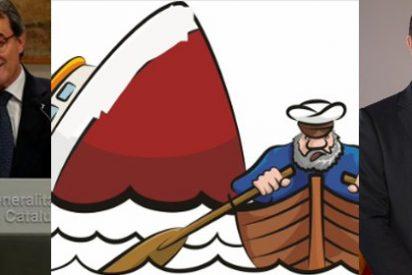Delirio en Twitter con el Titanic del independentismo: Artur Mas (PDeCT) y Carles Mundó (ERC) se bajan del barco