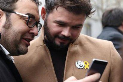 La desafiante respuesta de Rufián tras los SMS del 'descolgado' Puigdemont