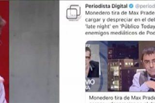 """Monedero ahora se pone el disfraz de corderito: """"Los de Periodista Digital se levantan por la mañana con el único objetivo de hacernos daño"""""""