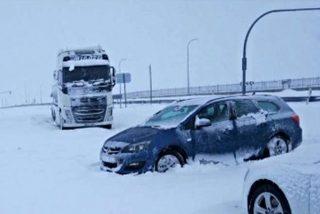 Enfado generalizado por la gestión de la nevada del fín de semana en la A6