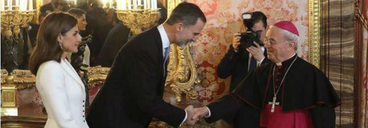 """El Nuncio, al Rey: """"España es una realidad a la que no se puede ni se debe renunciar"""""""