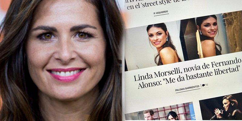 Nuria Roca se pone como el bicho del pantano al ver este titular sobre la novia de Fernando Alonso