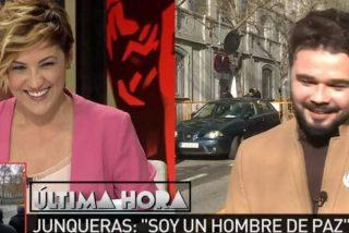 Cristina Pardo plancha al rufián Gabriel Rufián con un 'zasca' sobre Rajoy y la democracia en España