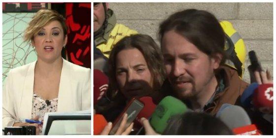 Cristina Pardo hunde en la miseria a Iglesias por cobardear y despreciar a una periodista con los SMS de Puigdemont