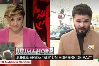 """Cristina Pardo ridiculiza a Rufián por defender la libertad de Junqueras por creyente: """"Un juez no se guía por creer en Dios"""""""