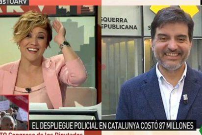 """El colosal vacile de Pardo al independentista que está encantado con su President por Skype: """"¡Así se va acostumbrando al retardo!"""""""