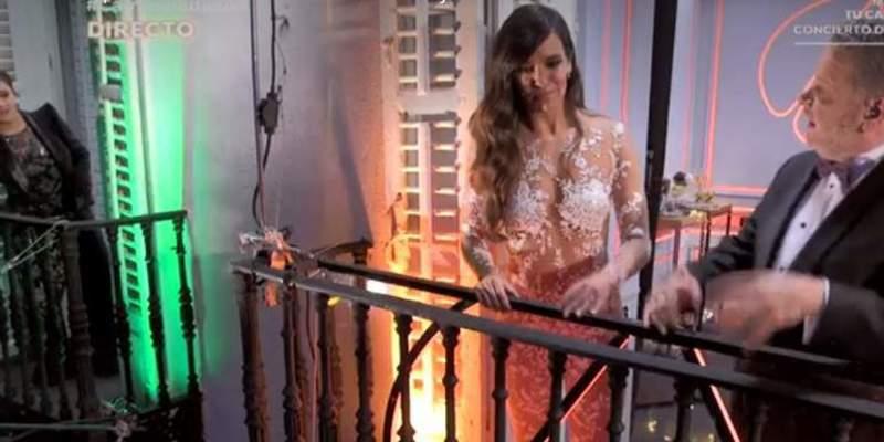 Cristina Pardo pillada 'in fraganti' en las Campanadas de Nochevieja