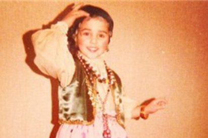 Paula Echevarría sube una foto a Instagram de cuando era niña y ya aparece flamenca