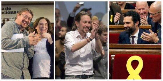¡Ya no engañáis a nadie, podemitas! Iglesias y Domenech hicieron de palmeros del nuevo churro separatista