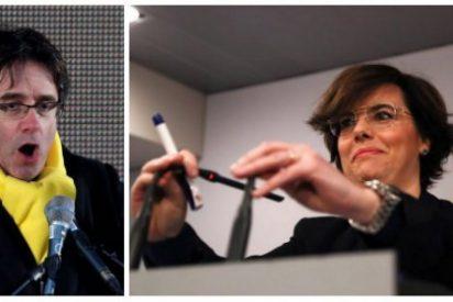 ABC le pasa factura a la 'visionaria' Soraya por bocazas y destapar los planes contra Puigdemont