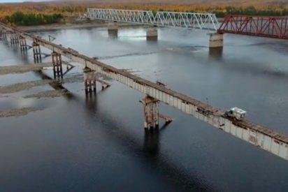 Así es el puente más peligroso de Rusia