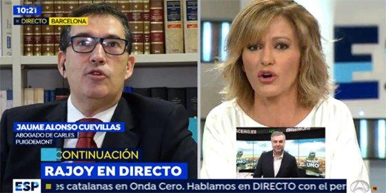 El abogado del golpista Puigdemont quiere convencer a Griso del gobierno por Skype y se lleva un buen palo