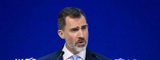 """El Rey, en Davos: """"La Constitución española no es un mero ornamento"""""""