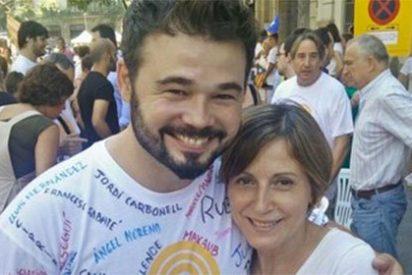 Recital de palos a Gabriel Rufián y, de propina, a Forcadell por su ridícula foto en Twitter