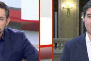 Javier Ruiz borra la sonrisa al trilero de ERC que quiere suavizar el rebote supino de Puigdemont