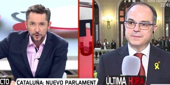 El separatista y 'fino gourmet' Turull se hace repentinamente el sordo con una pregunta clave sobre Puigdemont