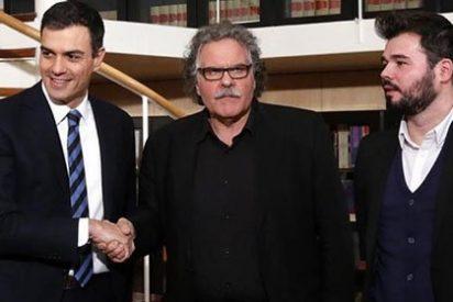 El turbio acuerdo secreto de Sánchez con ERC y las CUP hace estallar de júbilo a los golpistas