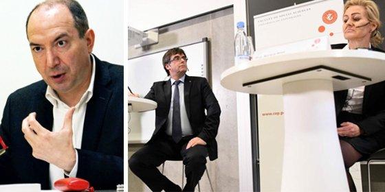La TV3 del secuaz Sanchis oculta el repasito que una profesora le metió a Puigdemont en Copenhague