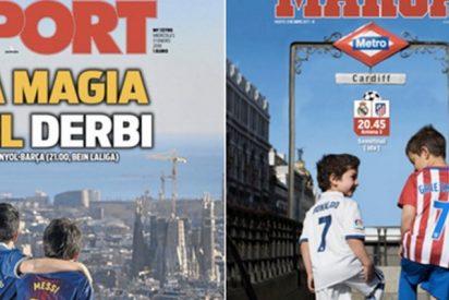 El gran parecido entre las portadas de 'Sport' y 'Marca' hace arder las redes
