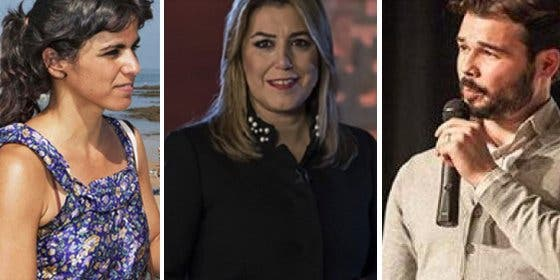 La podemita Teresa Rodríguez se enzarza con el separatista Rufián en Twitter y se arma el Belén