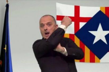 """El bufón de la TV3 que llamó 'mala puta' a Arrimadas le hace un corte de mangas a Tabarnia: """"Nos envenenan"""""""