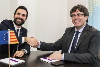 El prófugo Puigdemont pide 'amparo' a Torrent para asistir a la investidura sin que lo trinque la Guardia Civil