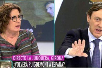 'Telecinco': Brutal encontronazo entre la periodista Montse Domínguez y el popular Rafael Hernando