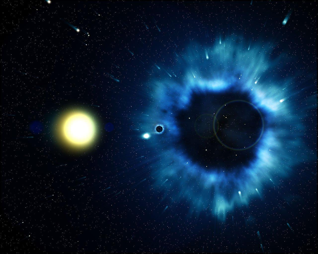 'Nature': Los agujeros negros expulsan vientos mientras consumen masa