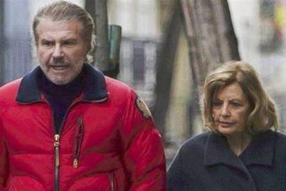 María Teresa Campos y Edmundo 'Bigote' Arrocet se exhiben con dos 'tórtolos' por Madrid