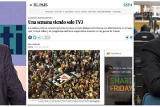 La separatista TV3 y un juzgado catalán intentan amordazar a El País y éste les responde con un editorial salvaje