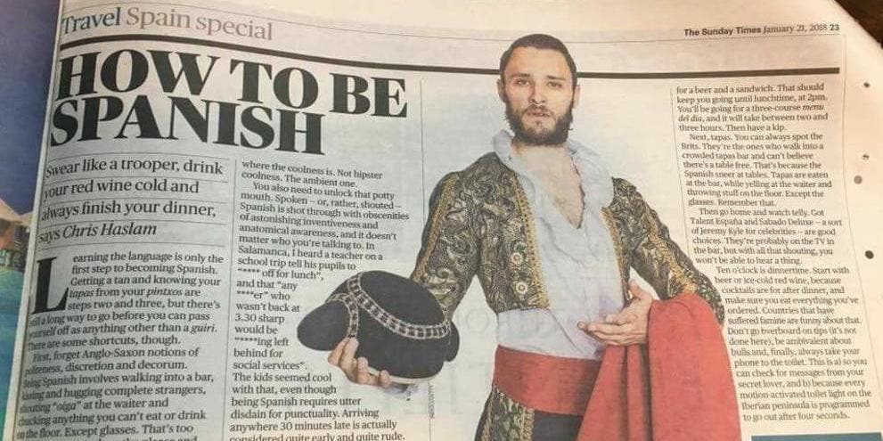El artículo de 'The Times' que indigna a media España, recomienda ver 'Got Talent' y 'Deluxe'