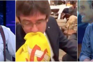 """Lo que más indigna a Évole de todo el 'circo catalán' es el muchacho de la bandera: """"Fue una payasada, cualquier gilipollas puede hacer lo mismo"""""""