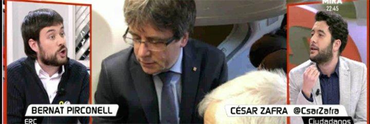 """Ciudadanos se ensaña con el 'pobre' independentista defensor de los viajes de Puigdemont: """"Ha pasado del Erasmus al Interrail, ¡es deleznable!"""""""