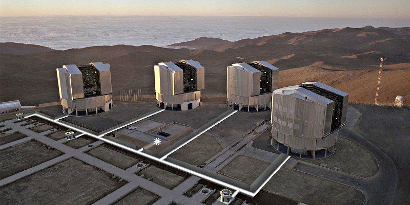 El Very Large Telescope (VLT) se convierte en el telescopio óptico más grande del mundo