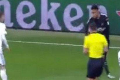 ¡Ni te imaginas que le pasa a este árbitro!
