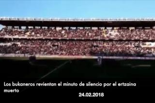 Los Bukaneros revientan el minuto de silencio en memoria del ertzaina muerto en Bilbao
