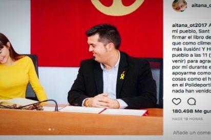 El amarillo chillón de la finalista de OT como homenaje al 'procés' saca los colores
