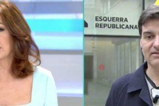 'Somanta de palos' de Ana Rosa al independentista 'sonrisitas' que no se quiere enterar de que Puigdemont está fugado
