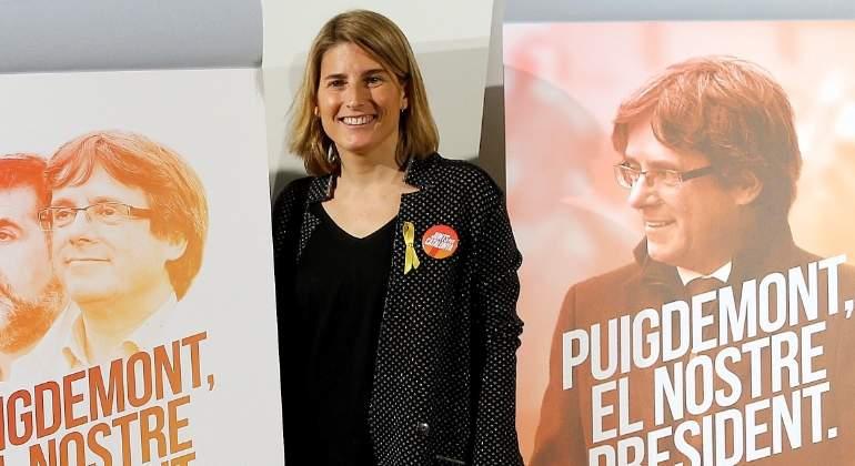 """Elsa Artadi se pone flamenca y rechaza que Puigdemont sea nombrado """"presidente simbólico"""""""