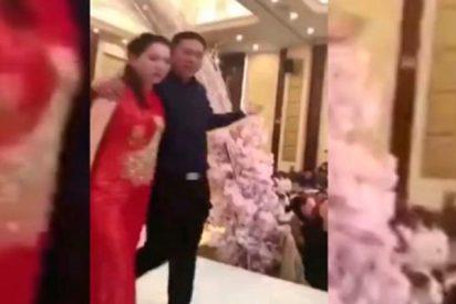 Batalla campal en una boda después de que el suegro besara a la novia a la fuerza