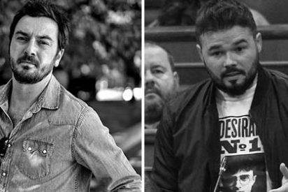 'Gaby' Rufián (ERC) y 'Jordi' Bustos (El Mundo) se lían a salvajes navajazos en Twitter