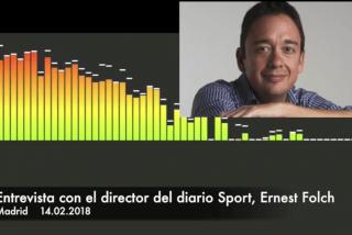 """Folch: """"No es que Sport esté ahora más politizado que antes pero ocurre que ni la sociedad ni el Barça viven en una burbuja"""""""