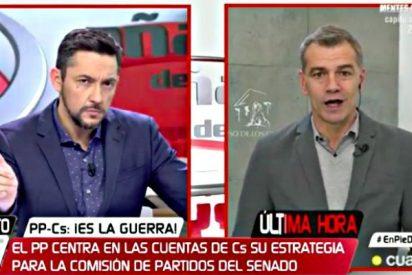 Toni Cantó se cabrea en CuatroTV y de dos 'guantazos' cierra la boca a Javier Ruiz