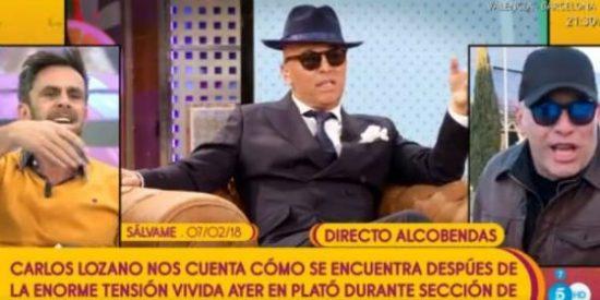 """La hipocresía de 'Sálvame' con Carlos Lozano y su violencia: """"¡Eres tonto!"""""""