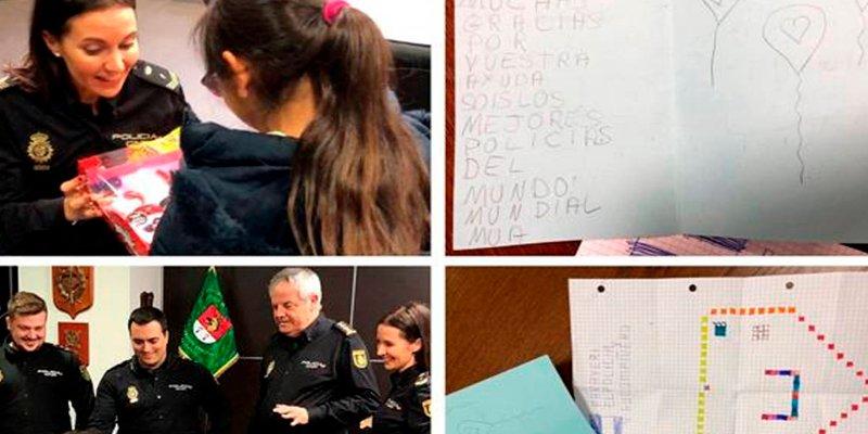 La emotiva carta de agradecimiento a la Policía de una niña de ocho años que casi rapta un pedófilo