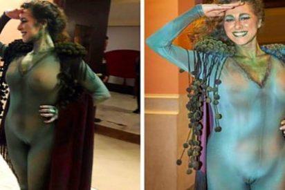 El disfraz de la transparente concejala del podemita 'Kichi' que deja ver su 'chichi'