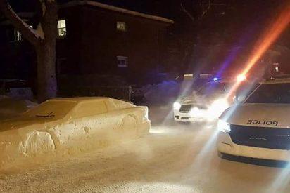 Este coche de nieve confunde a la policía