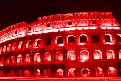 El Coliseo de Roma se iluminará mañana de rojo