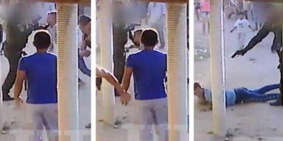 El vídeo del policía que mata de cuatro tiros a un joven que robó una gaseosa