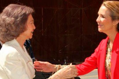 Doña Sofía muy dolida con la última decisión de la infanta Elena